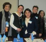 (L to R) Cristina Igoa, Zarmina Kochi,  Rosario Campos, Karen Cadeiro- Kaplan, Jean Shinoda Bolen