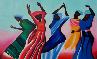 African American Black Art Freedom Dance