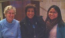 L to R: Mary Jo Toll, Cristina Igoa and Diana Eusebio at UN Migration event